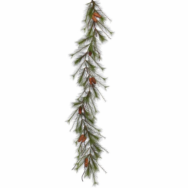 Big Fork Pine Artificial Christmas Garland Unlit by Alcott Hill