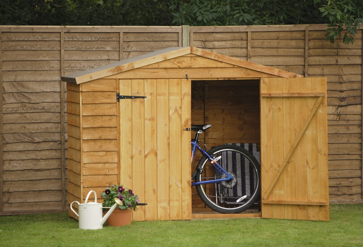 Garden Sheds 7 X 3 forest garden 7 ft. w x 3 ft. d wooden bike shed & reviews