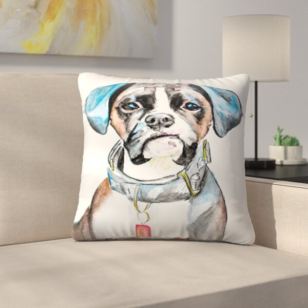 Boxer Throw Pillow by East Urban Home