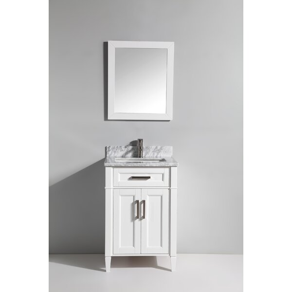 Lachine Marble 24 Single Bathroom Vanity with Mirror by Gracie Oaks