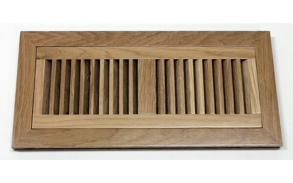 6.75 x 14.5 White Oak Wood Flush Mount Vent Cover by Moldings Online