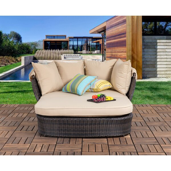 Tolbert Patio Daybed with Cushions by Bay Isle Home