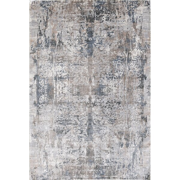 Cotton Light Brown/Beige Area Rug by Bungalow Rose