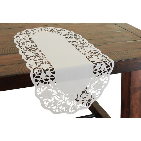 Somerset Embroidered Cutwork Table Runner by Xia Home Fashions