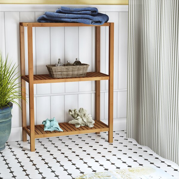 Harley 22.1 W x 31.5 H Bathroom Shelf by Beachcrest Home