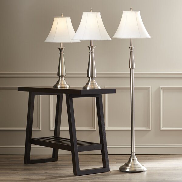 Darby Home Co Marion 3 Piece Table And Floor Lamp Set U0026 Reviews | Wayfair