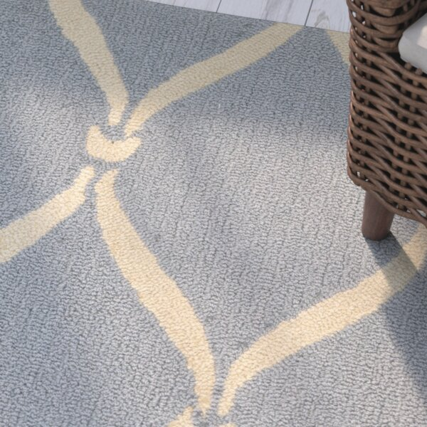 Coventry Hand-Hooked Light Blue/Ivory Area Rug