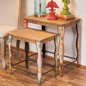Ashbury 2 Piece Nesting Table Set by Evergreen Flag & Garden