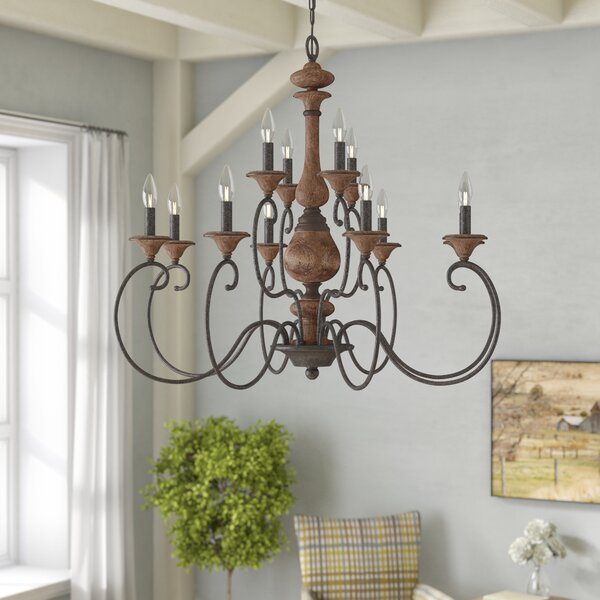 Turcot 12-Light Candle Style Tiered Chandelier By Lark Manor