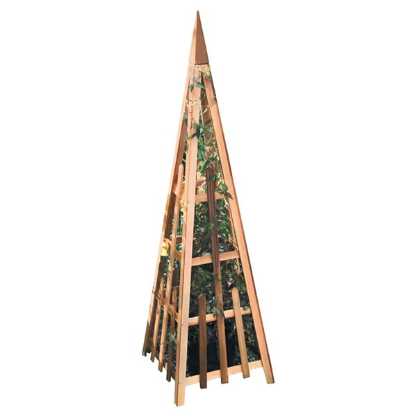 Phat Tommy Wood Pyramid Wood Obelisk Trellis by Buyers Choice
