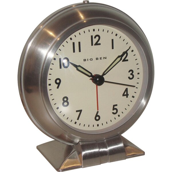 Metal Big Ben Alarm Tabletop Clock by Darby Home Co