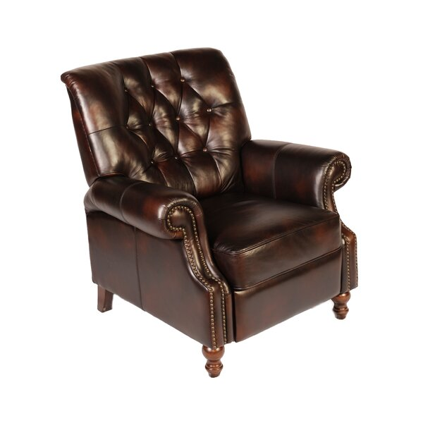Leather Manual Recliner by Lazzaro Leather
