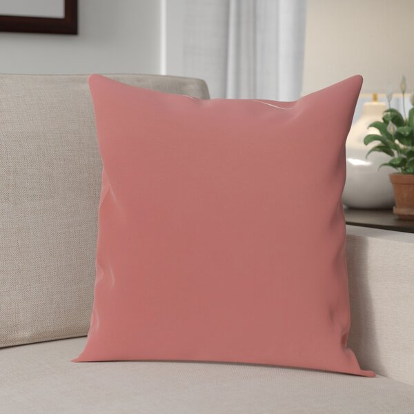 Carron Solid Throw Pillow by Andover Mills