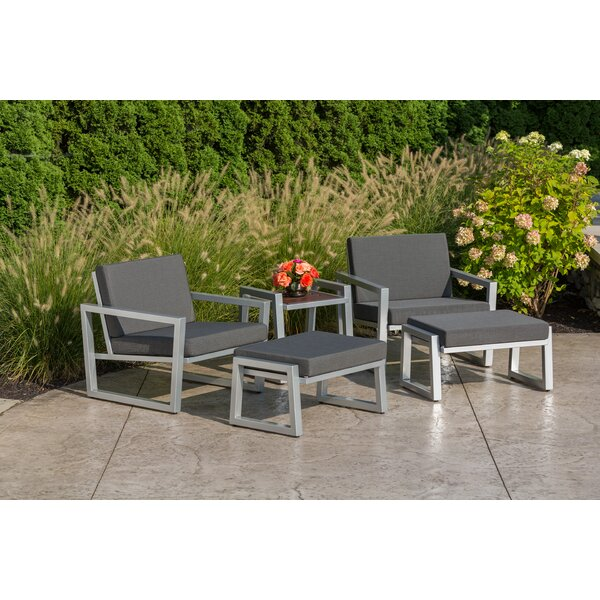 Waubun 5 Piece Sunbrella Conversation Set with Cushions by Brayden Studio