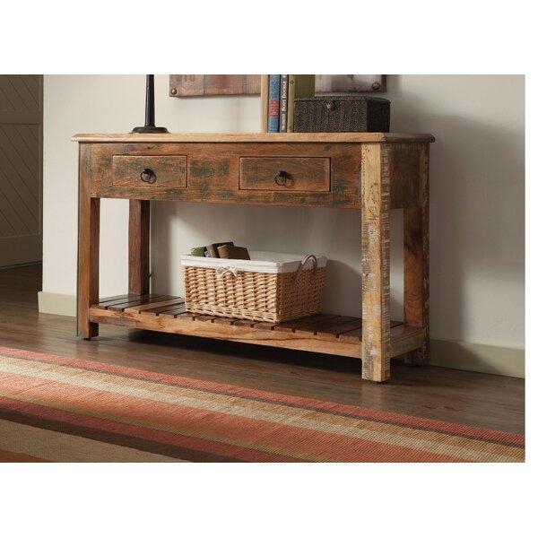 West Oak Lane Charmed Rustically Wooden Console Table by Loon Peak