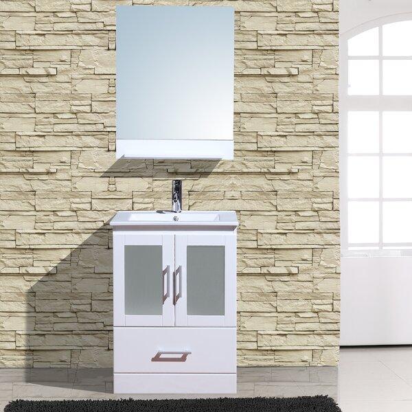 Alva 24 Single Bathroom Vanity with Mirror by Adornus