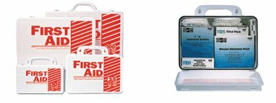 10 Person Industrial First Aid Kits - 10 person plastic first-aid kit w/eyewash by Pac-Kit