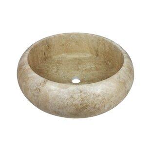 Comparison Paredon Stone Circular Vessel Bathroom Sink ByLaguna Marble