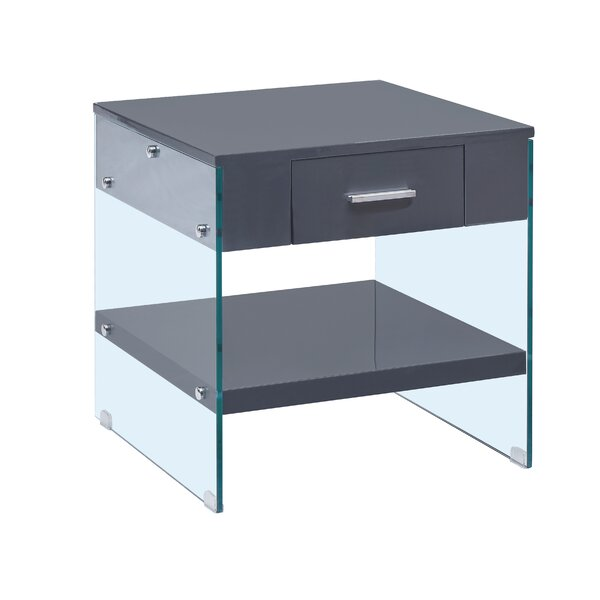Chafin End Table with Storage by Orren Ellis