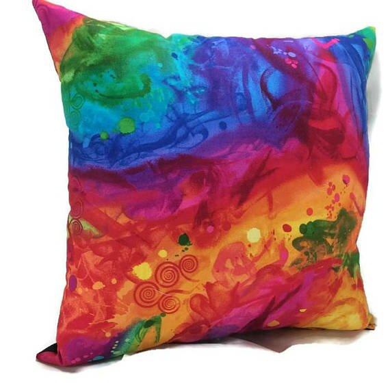 Rainbow Throw Pillow by East Urban Home