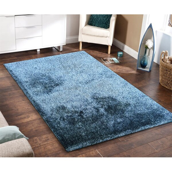 Arriaga Hand Tufted Blue/White Area Rug by Brayden Studio