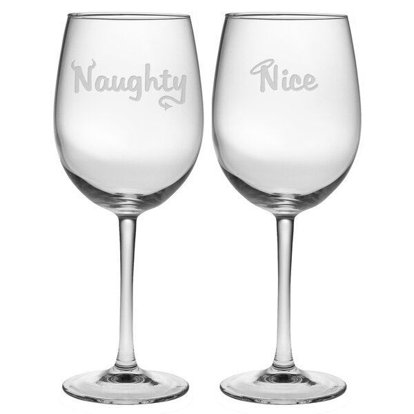 Schweitzer Naughty and Nice Wine Glass by Latitude Run