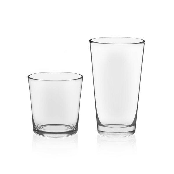 Preston Drinkware 16 Piece Glass Assorted Glassware Set by Libbey