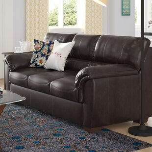 leather couch living room caramel simmons upholstery bourne sleeper sofa faux leather beds youll love wayfair