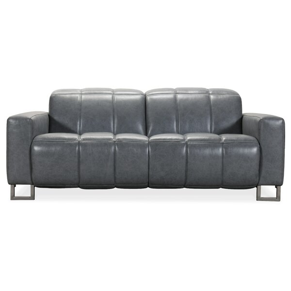Review Giancarlo Leather Reclining Loveseat