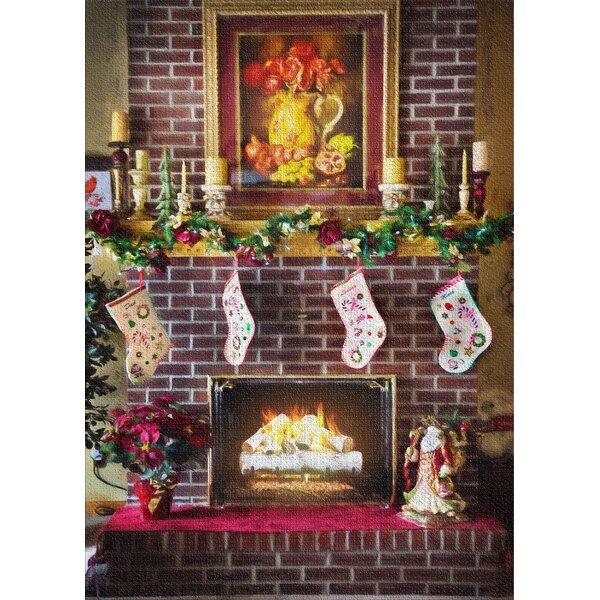 Fireplace Brown Area Rug