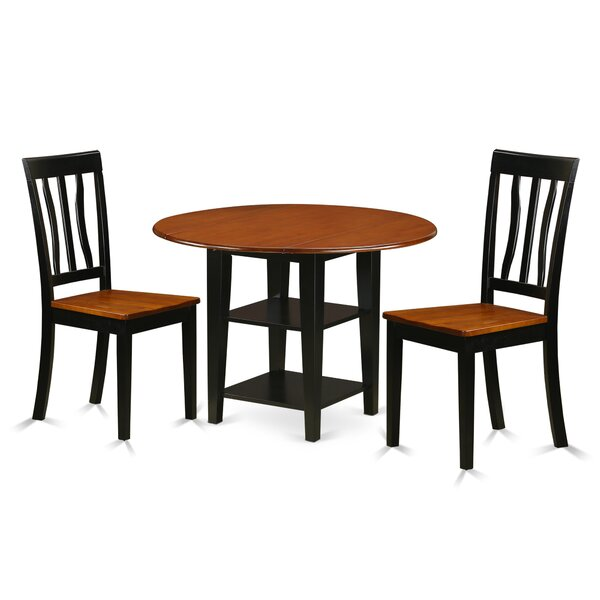 Tyshawn 3 Piece Drop Leaf Breakfast Nook Solid Wood Dining Set By Charlton Home Fresh