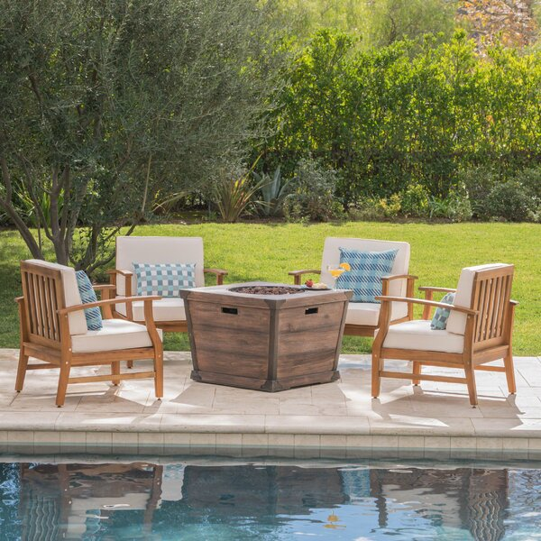 Benton 5 Piece Seating Group with Cushions by Brayden Studio