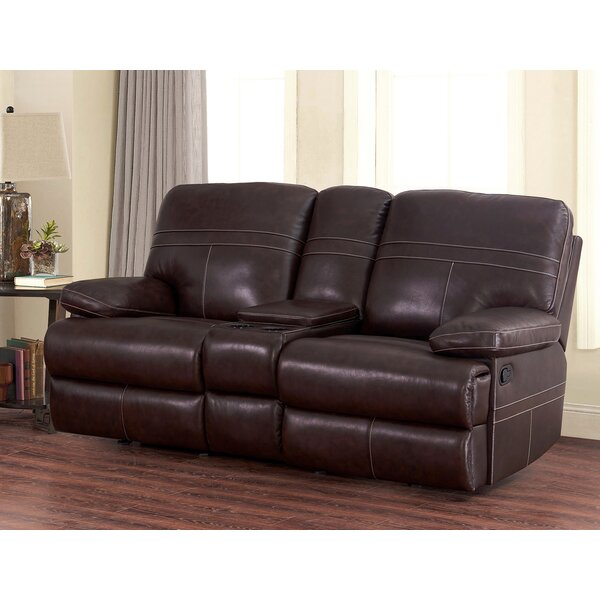 Excellent Reviews Koehn Leather Reclining Loveseat by Red Barrel Studio by Red Barrel Studio