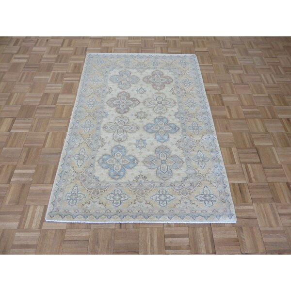 One-of-a-Kind Railsback Hand-Knotted Silk Ivory Area Rug by Astoria Grand