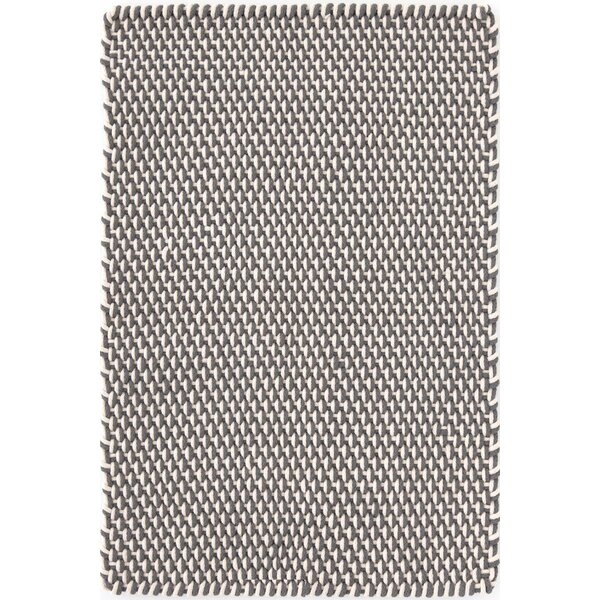 Geometric Handmade Braided Graphite Indoor / Outdoor Area Rug
