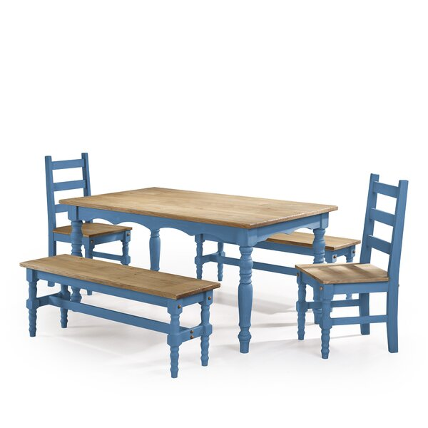 Pinard 5 Piece Solid Wood  Dining Set by Gracie Oaks