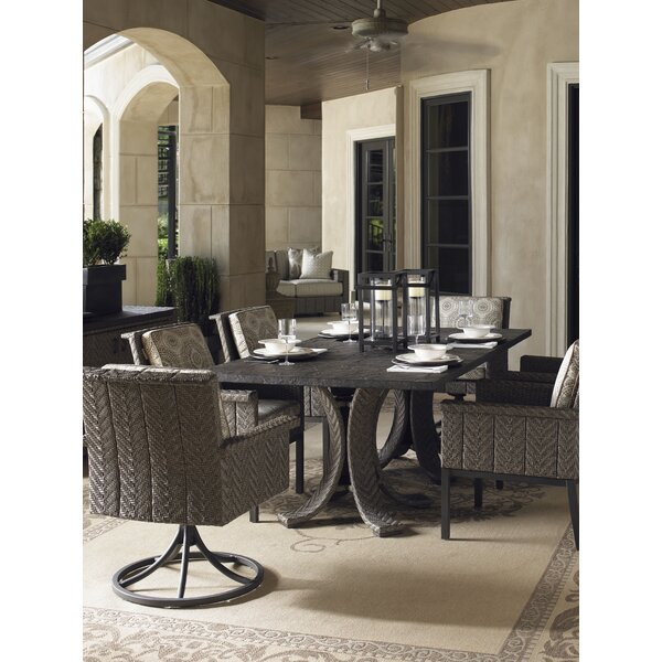 Olive 7 Piece Dining Set with Sunbrella Cushions