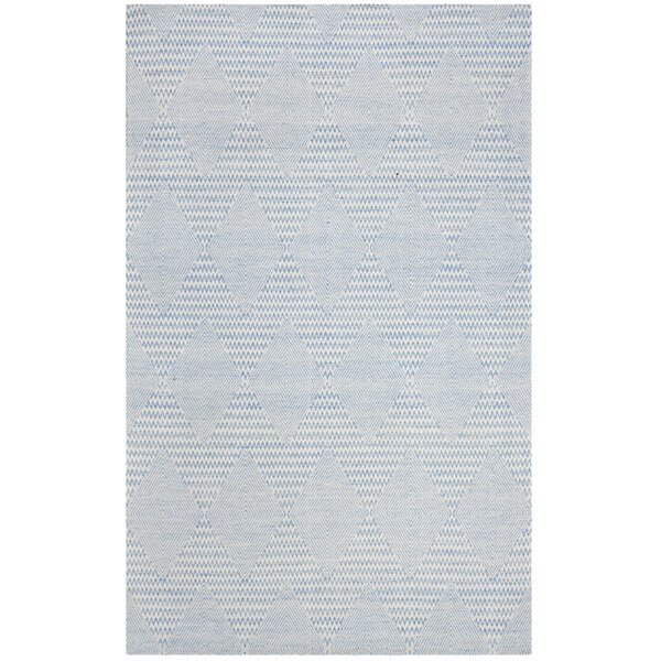 Burner Hand-Woven Light Blue/Ivory Area Rug by Highland Dunes