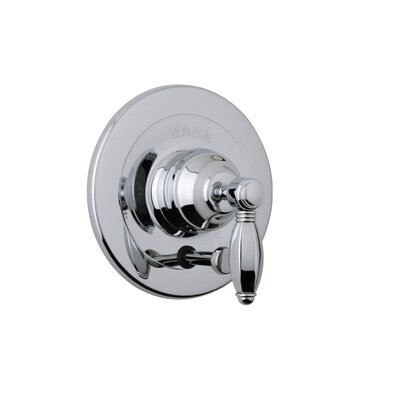 Pessure Balance Diverter Shower Faucet Trim Only with Porcelain Lever Handle by Rohl