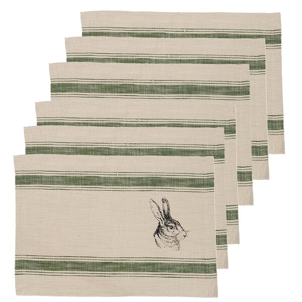 Bunny Feed Sack 19 Placemat by C&F Home
