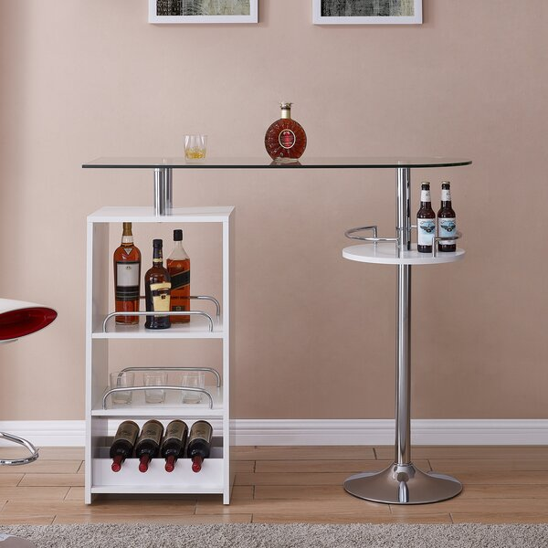 Ken Tall Bar with Wine Storage by Orren Ellis Orren Ellis
