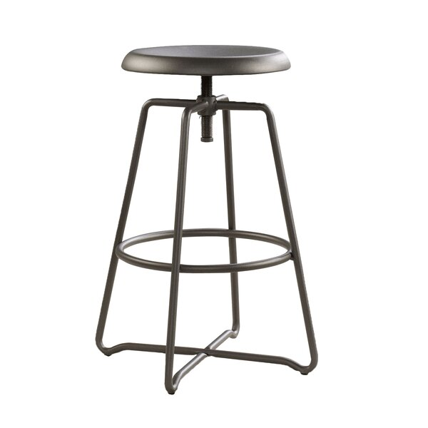 Ringgold Adjustable Height Swivel Bar Stool by Greyleigh