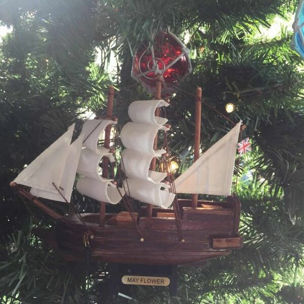 Mayflower Ship Christmas Ornament by Handcrafted N