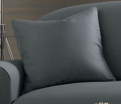 Essential Twill Pillow Box Cushion Slipcover by Sure Fit