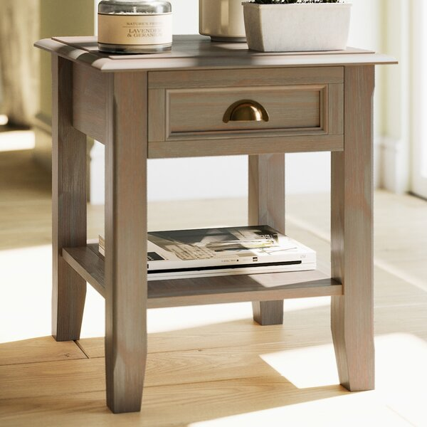 Mclaren Solid Wood End Table With Storage By Alcott Hill