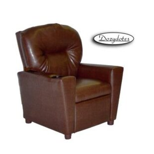 Best Choices Like Kids Faux Leather Chair with Cup Holder ByDozydotes