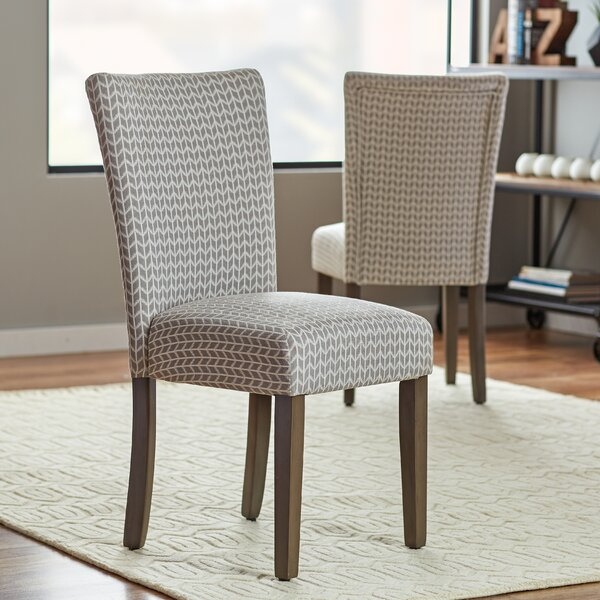 Riddle Upholstered Dining Chair (Set of 2) by Wrought Studio