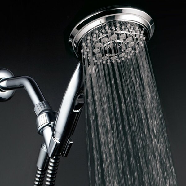 Premium Chrome with On/Off Pause Switch Multi Function Handheld Shower Head by HotelSpa HotelSpa