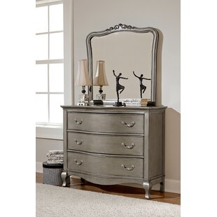 Platte 3 Drawer Dresser with Mirror By Greyleigh