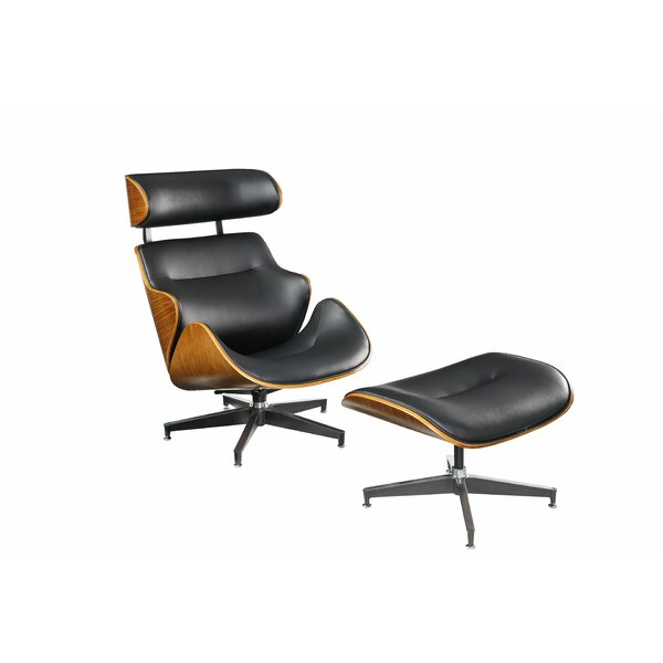 Lela Swivel Lounge Chair with Ottoman by Corrigan Studio